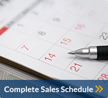 Manheim Seattle Complete Sales Schedule